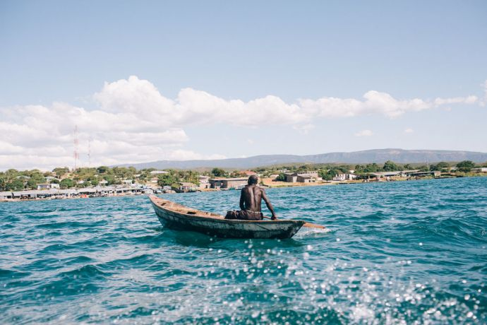 Zambia: Local fisherman heading back to the village after fishing. Mpulungu, Zambia More Info