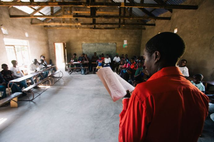 Zambia: OM missionaries plant the church in Kapembwa and every Sunday morning before service they are doing a bible study together. Photo by Doseong Park More Info