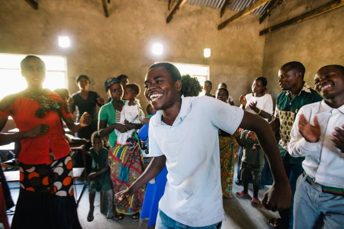 Zambia: OM missionaries plant the church in Kapembwa, church members worship during the service. Photo by Doseong Park More Info