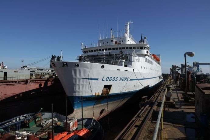 Uruguay: Montevideo, Uruguay :: Logos Hope in dry dock for her annual maintenance. More Info