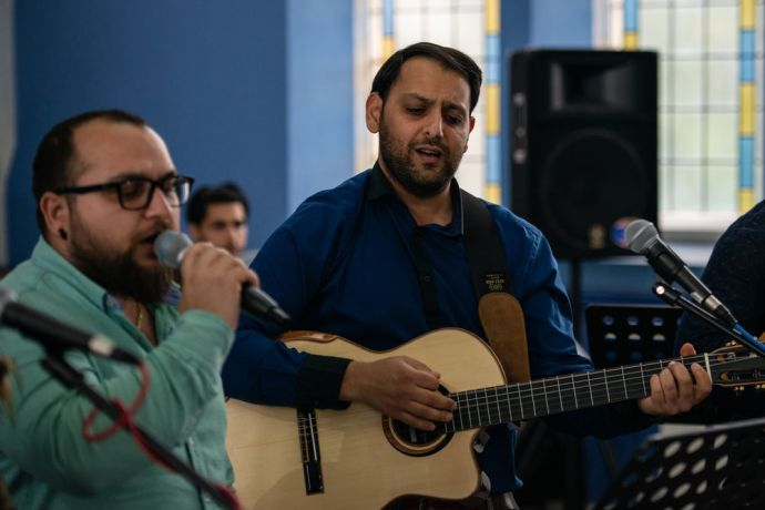 United Kingdom: Turks from the community gather and worship at a nearby Turkish speaking church plant in the UK. Photo by Garrett N. More Info
