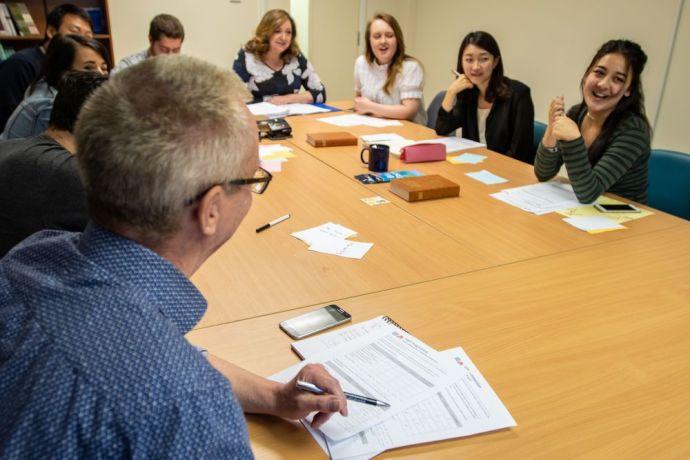 United Kingdom: MDT students attending class in the UK.  Photo by Garrett N More Info