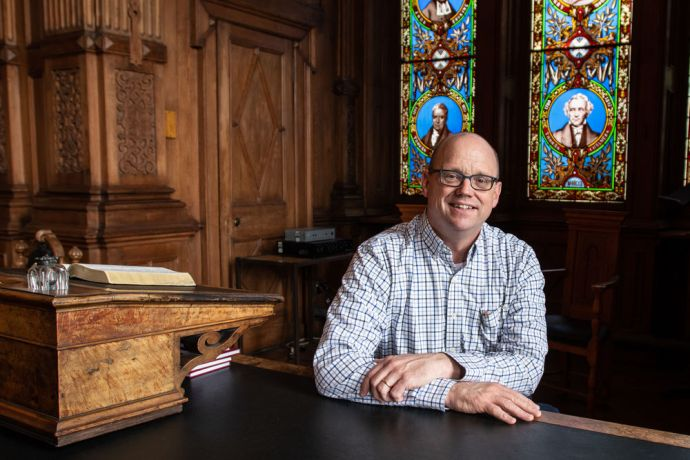 United Kingdom: Bob Akroyd, Director of Mission for the Free Church of Scotland, Chair of Systematic Theology at the Free Church College, Free Church Minister, and recipient of the Butler Trust Award for his outstanding work in HMP Edinburgh.  Photo by Garrett N More Info
