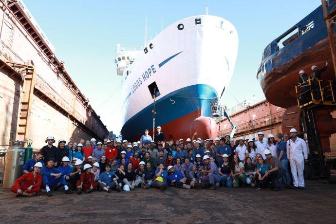 Uruguay: Montevideo, Uruguay ::  Logos Hope in drydock. More Info