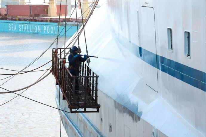 Uruguay: Montevideo, Uruguay :: Logos Hope in dry dock More Info