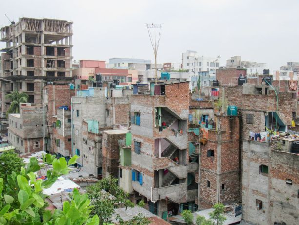 Bangladesh: Bangladesh :: Buildings in a poar area of the city. More Info