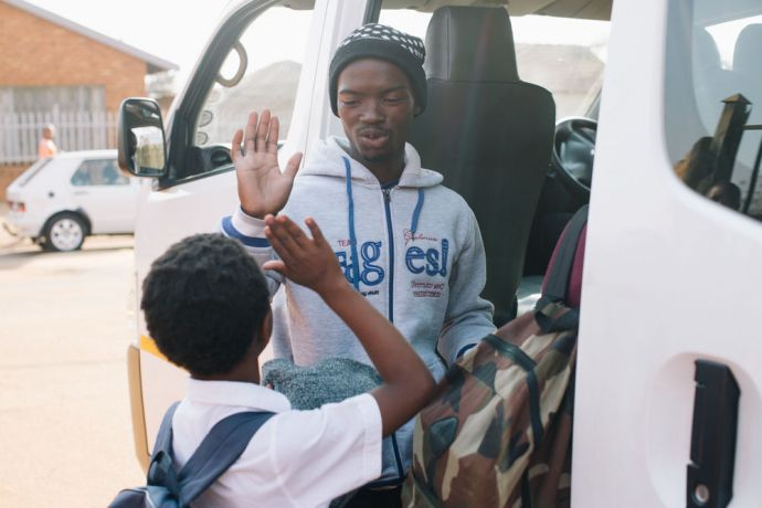 South Africa: Kids are picked up from school and transported to and back from the After School Programme at AIDS Hope. More Info