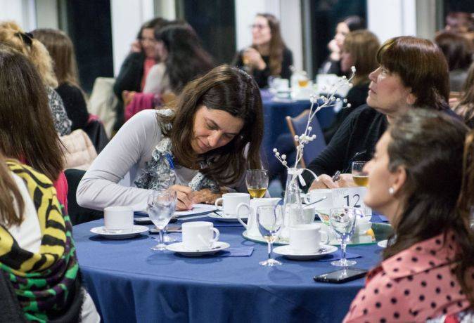Argentina: Rosario, Argentina :: Women take notes at a conference on board Logos Hope. More Info