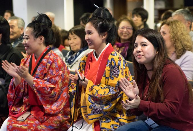 Argentina: Buenos Aires, Argentina :: Women wearing kimonos enjoy a Japanese event on board Logos Hope. More Info