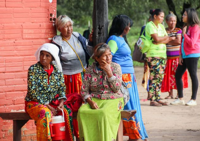 Paraguay: Montevideo, Uruguay :: local women gather in the street. More Info
