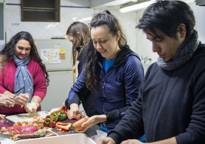 Argentina: Buenos Aires, Argentina :: Ulyana Makarova (Russia) helps a church to prepare and cook meals for homeless people. More Info