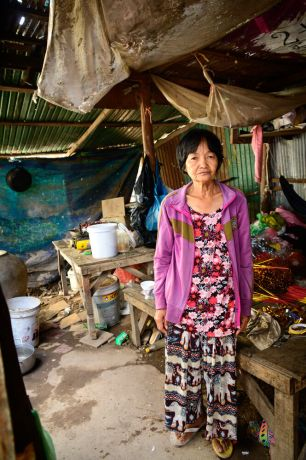 Cambodia: This woman is part of a Bible study OM runs. In her home, a gift from the local team. More Info