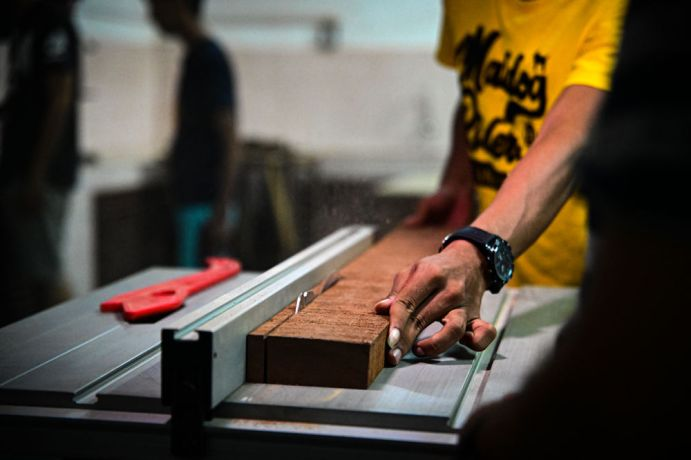 South East Asia: Local apprentice working at an OM run carpentry shop that aims to disciple and equip young people with new work skills and a deeper understanding of Jesus. More Info
