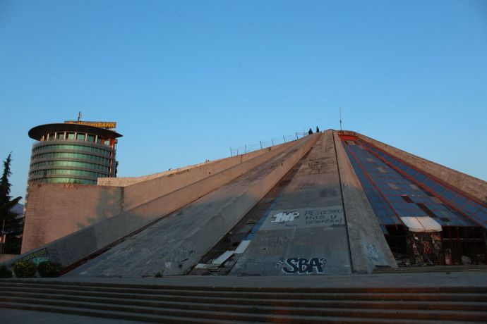 Albania: Originally built as a museum in honor of the former Communist leader, the Pyramid in Tirana, Albania, is now still a popular landmark, though it has not been well-preserved. More Info