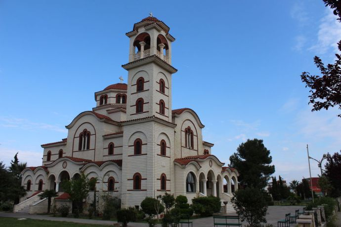 Albania: A large Orthodox church in Durrës--Albanias largest port city and second largest city. More Info