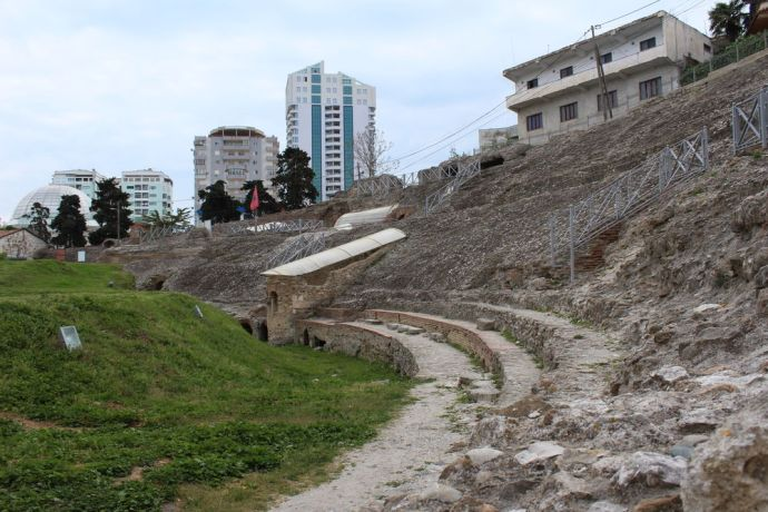 Albania: A famous archaeological site that was only discovered in the 1960s--the ancient amphitheatre in Durrës, Albanias second largest city. More Info
