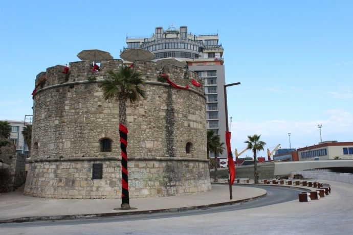 Albania: This historical monument now serves as a cafe in Durrës, Albanias largest port city and second largest city. More Info