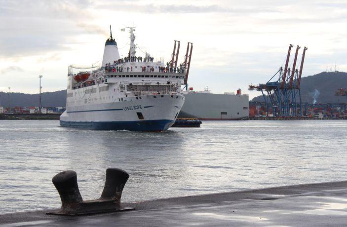 Brazil: Santos, Brazil :: The ship arrives in her first Brazilian port. More Info
