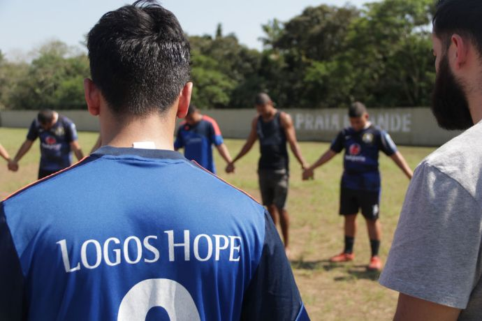 Brazil: Santos, Brazil :: The Logos Hope football team plays with a brazilian local team. More Info
