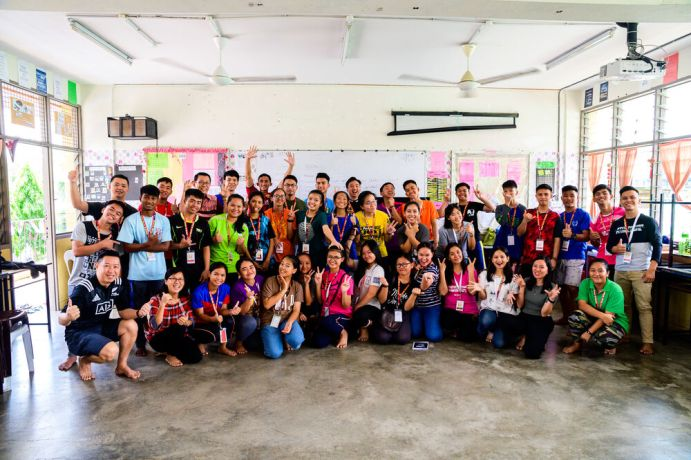 Malaysia: A group shot of the coaches and staff that ran TeenStreet in Kota Kinabalu. More Info
