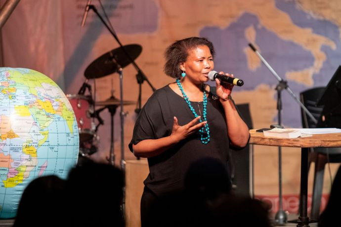 International: Esther Banzi (South Africa) at Transform in Greece. Esther is part of the leadership team for Transform; organising workshops and emceeing the conference. Photo by Rebecca Rempel More Info