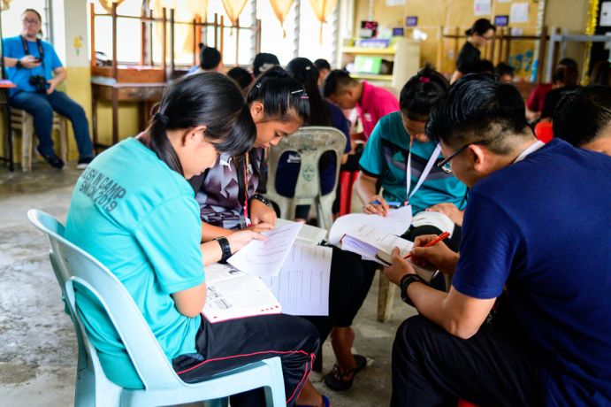 Malaysia: Bible study during one of the workshops. More Info