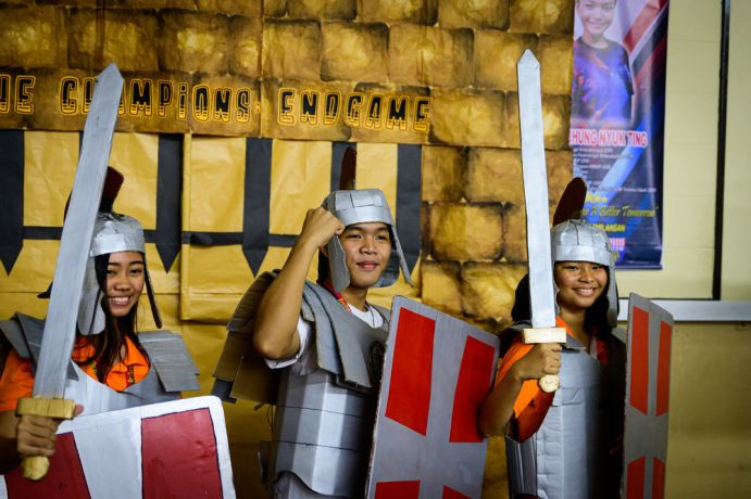 Malaysia: Participants dressed up in the armor of God. More Info