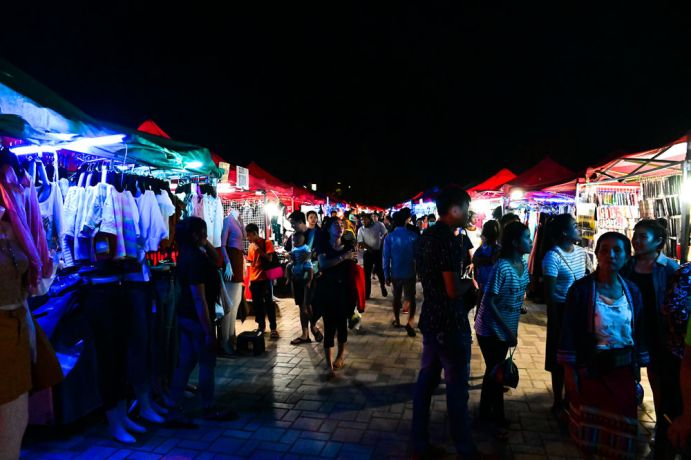 Laos: A night market for local people, a very popular place to find cheap clothes, food, and other hidden treasures. More Info