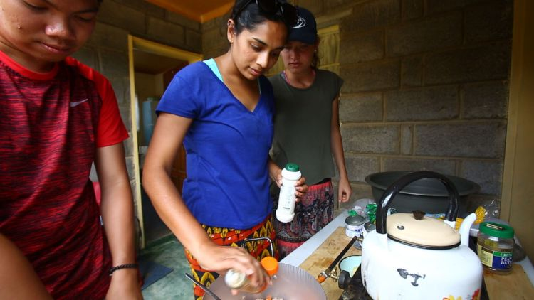 South Africa: Vinitha (Australia) preparing a meal during Africa Trek. The Africa Trek is a discipleship programme that aims to disciple participants and equip them to become effective disciple-makers with a passion to reach out to those who do not know Christ's love. More Info