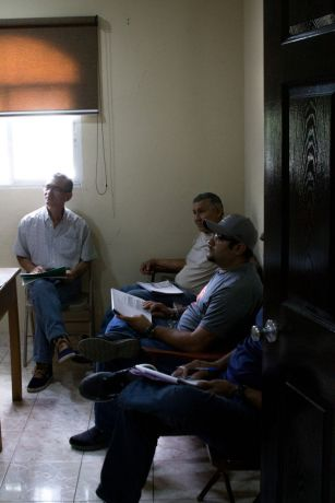 Panama: Local men in the province of Herrera, Panama, attending a Bible study at their church. More Info