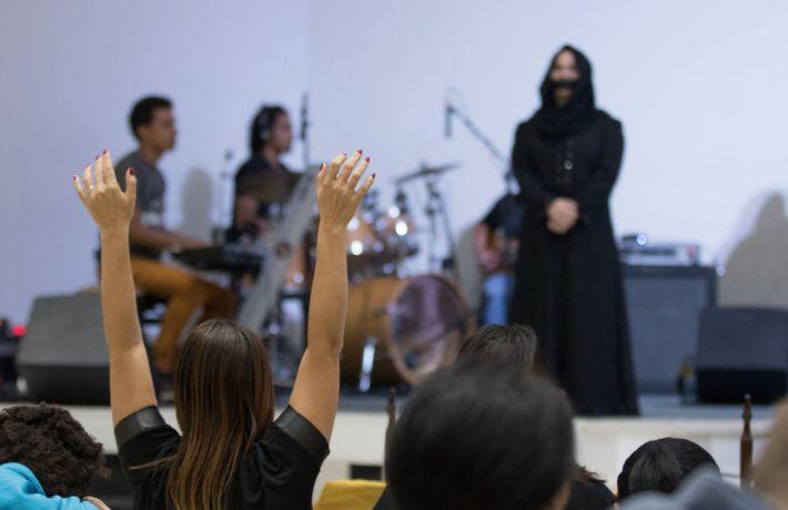 Brazil: Rio de Janeiro, Brazil :: A woman prays for the least reached at a prayer event. More Info