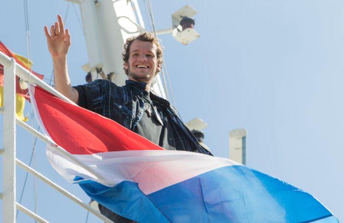 Brazil: Vitoria, Brazil :: David Begeer (Netherlands) enjoys the ships arrival in Vitoria. More Info