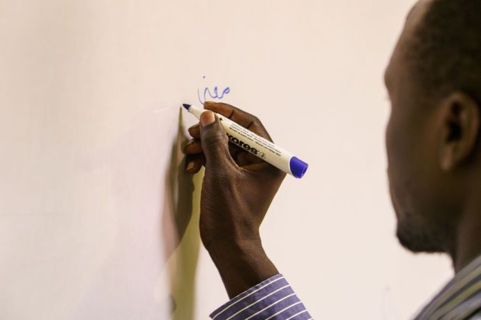 North Africa: Emad helps Amid lead and disciple sudanese students at MDT Egypt .  Photo by Garrett N More Info