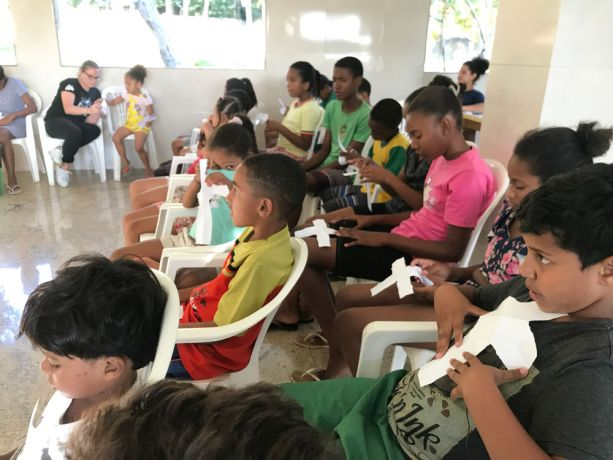 Brazil: Salvador, Brazil :: Children learn to share their faith creatively. More Info