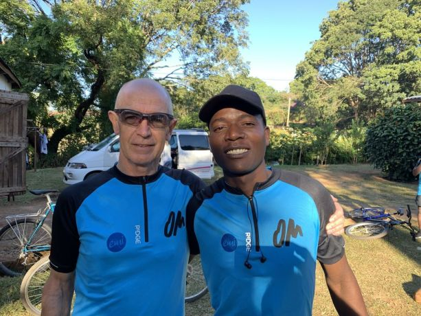 South Africa: Van Zyl during Ride 2 Transform Malawi (R2TM). R2TM is a seven-day cycling trip through Malawi with the purpose of praying for and ministering to the unreached people groups living there. More Info