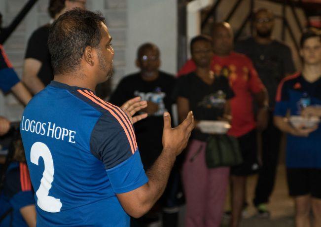 Trinidad & Tobago: Port of Spain, Trinidad and Tobago :: Gary Joseph (Trinidad and Tobago) shares his story to local football teams. More Info