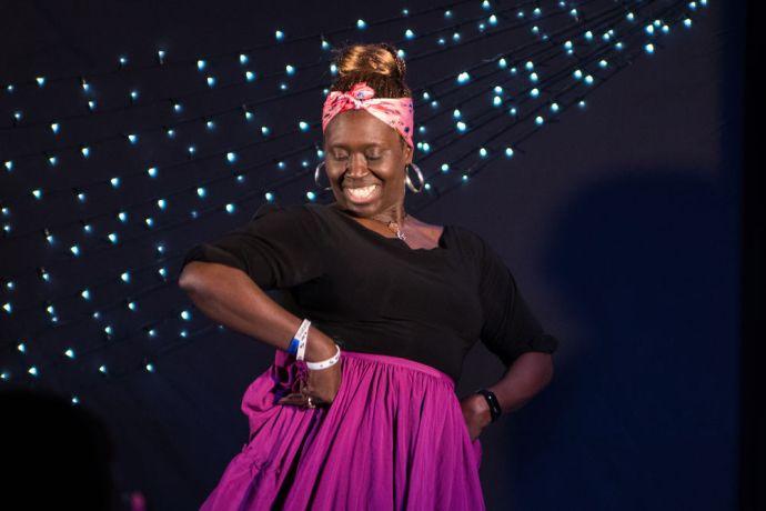 Trinidad & Tobago: Port of Spain, Trinidad and Tobago :: Venese Toussaint (Trinidad and Tobago) dances at an event. More Info