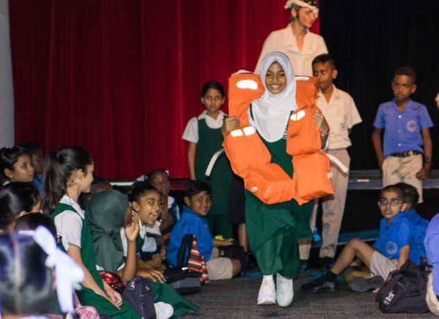 Trinidad & Tobago: Port of Spain, Trinidad and Tobago :: A girl enjoys a game at en event on board. More Info