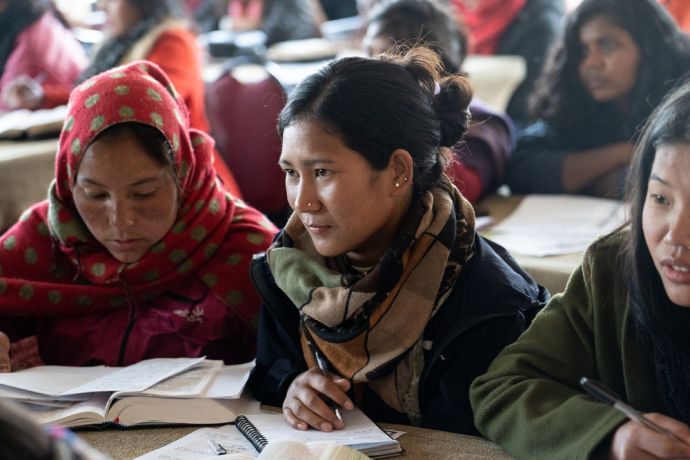 South Asia: Students study in a classroom in South Asia. Photo by Rebecca Rempel. More Info