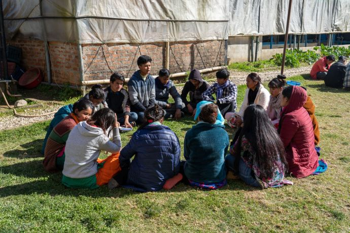 South Asia: Students get to know one another and pray for each other in South Asia. Photo by Rebecca Rempel. More Info