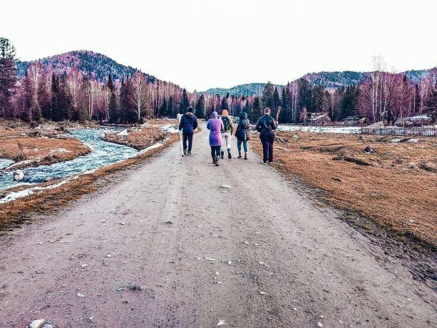 Russia: A Russian village in winter. More Info