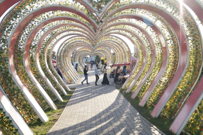 Russia: Heart made of trees in one of the Russian cities. More Info