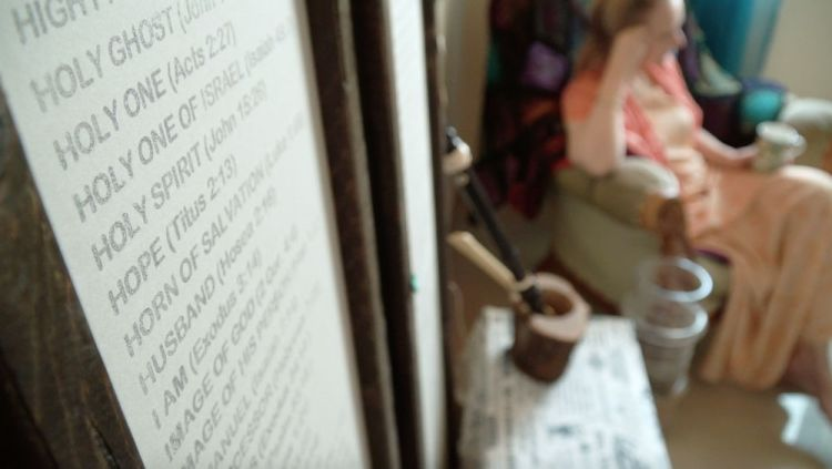 Arabian Peninsula: A worker in the Middle East shares her story in her personal prayer room. Photo by Jay S. More Info