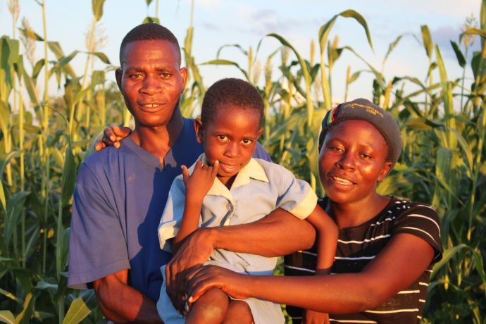Zimbabwe: Lwiiyo and his family. Lwiiyo has successfully implemented foundations for farming principles guaranteeing him a good harvest every season. More Info