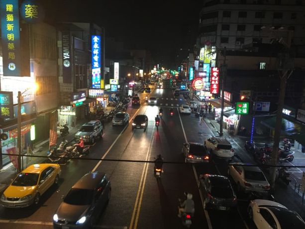 Taiwan: A street in Taiwan at night. Photo by Ellyn S. More Info