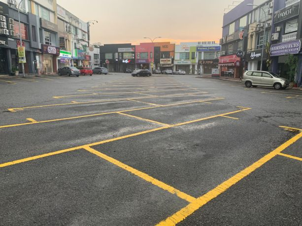 Malaysia: A empty parking lot in a shopping area in Kuala Lumpur, Malaysia shows the countrys lockdown measures in action to prevent the spread of COVID-19. More Info
