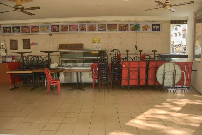 Malaysia: A closed restaurant in Kuala Lumpur, Malaysia shows the countrys lockdown measures in action to prevent the spread of COVID-19. For many small business owners, closing down may be detrimental to their livelihood. More Info