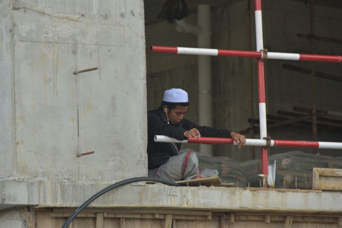 Malaysia: A closed construction site in Kuala Lumpur, Malaysia shows the countrys lockdown measures in action to prevent the spread of COVID-19. But closures like this may be detrimental to workers who only get paid if they work. More Info