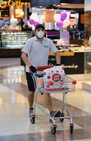 Australia: Customers wear masks to protect themselves from COVID-19 in Queensland Australia shopping centre. More Info