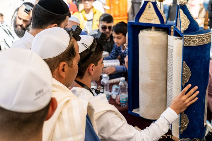 Israel: A young boy celebrates his bar mitzvah in Jerusalem. Photo by Rebecca Rempel. More Info